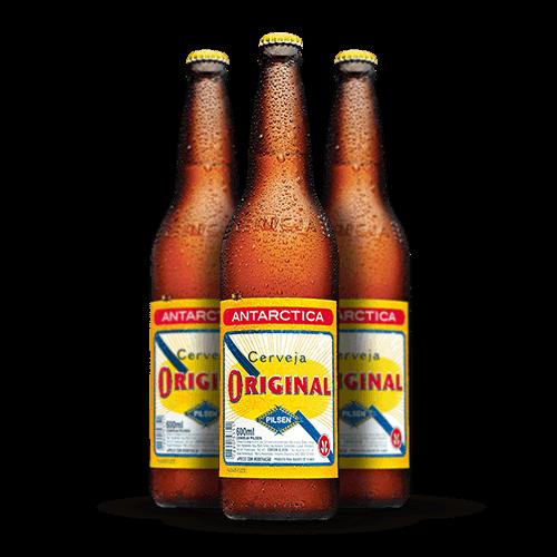 Cerveja Original 600ml <strong>Grátis Vasilhame</strong> - Brasileirão Atacado