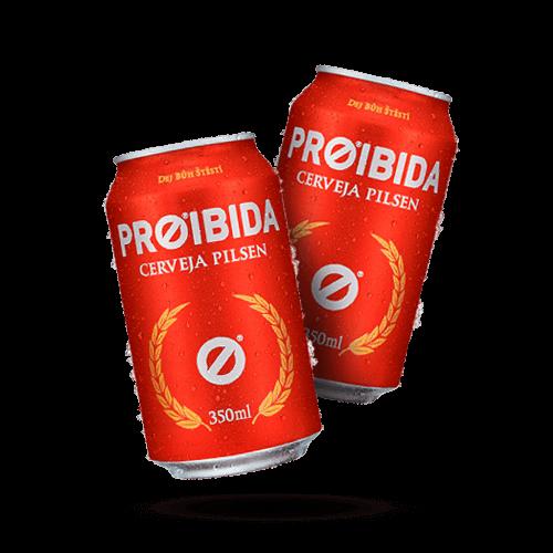 Cerveja Proibida Lata 350ml - Brasileirão Atacado