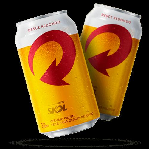Cerveja Skol Lata 350ml <strong>Acima de 50 pacotes</strong><small>Somente p/pagamento em dinheiro</small> - Brasileirão Atacado