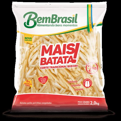 Batata Mais Batata Brasil Pacote 2kg - Brasileirão Atacado