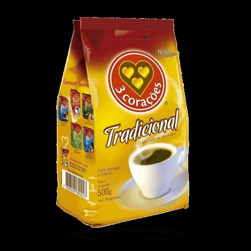 Café 3 Corações Tradicional 500g - Brasileirão Atacado