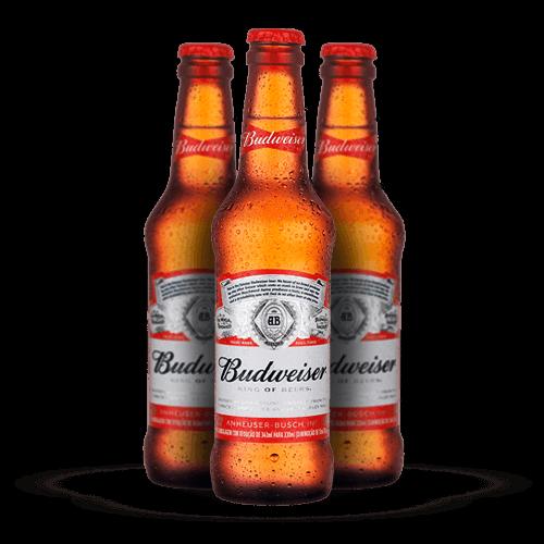 Cerveja Budweiser Long Neck 330ml - Brasileirão Atacado