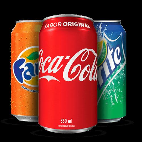 Coca Cola, Fanta ou Sprite Lata 350ml - Brasileirão Atacado