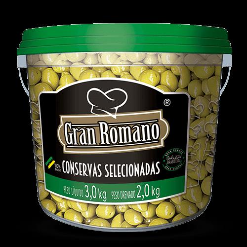 Azeitonas Miúda Gran Romano balde 2kg - Brasileirão Atacado
