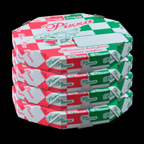 Caixa Pizza Oitavada 35x25cm - Brasileirão Atacado