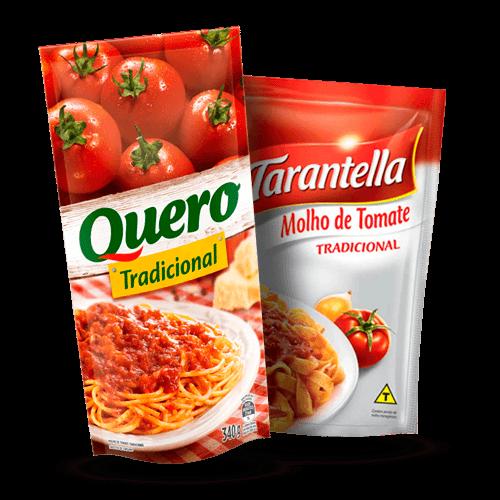 Molho de Tomate Quero ou Tarantella Trad. Sachê 340g - Brasileirão Atacado