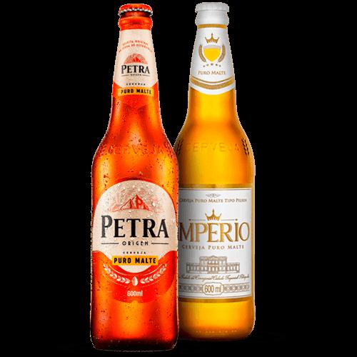 Cerveja Petra ou Império 600ml - Brasileirão Atacado