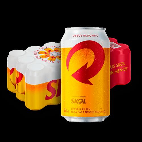 Cerveja Skol Lata 350ml - Brasileirão Atacado