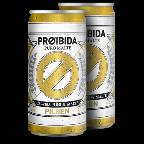 Cerveja Proibida Puro Malte Lata 269ml - Brasileirão Atacado