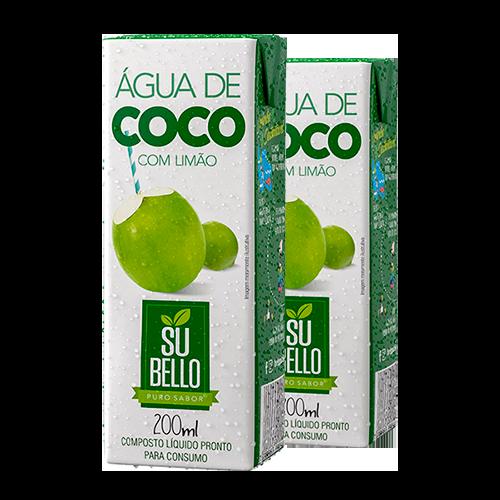 Água de Coco Subello Limão 200ml - Brasileirão Atacado